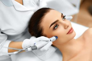 Face Skin Care. Facial Hydro Microdermabrasion Peeling Treatment. Vacuum Cleaner.